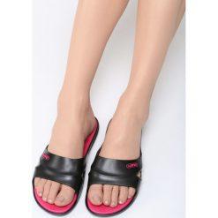 Klapki damskie: Czarno-Różowe Klapki Swim Away