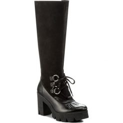 Kozaki EVA MINGE - Leonor 2R 17SM1372225EF 101. Czarne buty zimowe damskie Eva Minge, z nubiku, na obcasie. W wyprzedaży za 329,00 zł.