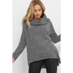 Lekki sweter z kołnierzem. Brązowe swetry oversize damskie marki Orsay, s, z dzianiny. Za 69,99 zł.