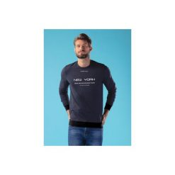 Bluza męska ze ściągaczami, nierozpinana. Niebieskie bejsbolówki męskie TXM, m. Za 34,99 zł.