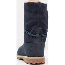 Timberland 6 IN WP Kozaki sznurowane dark blue. Niebieskie buty zimowe damskie marki Timberland, z materiału, na wysokim obcasie. Za 459,00 zł.