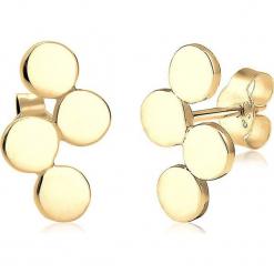 Pozłacane kolczyki-wkrętki. Żółte kolczyki damskie Julie & Grace, pozłacane. W wyprzedaży za 68,95 zł.