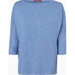 S.Oliver Casual - T-shirt damski, niebieski. Niebieskie t-shirty damskie s.Oliver Casual, s, z dżerseju. Za 99,95 zł.