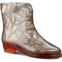 Kalosze MEL BY MELISSA - Ankle Boots Socks Sp Ad 32034  Pink Denim 06203. Brązowe buty zimowe damskie Mel by Melissa, z denimu. W wyprzedaży za 159,00 zł.