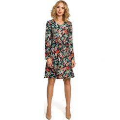 Sukienki: Sukienka trapezowa - kwiatowy