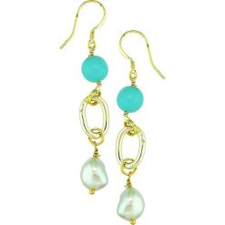 Kolczyki damskie: Kolczyki perłami i howlitami