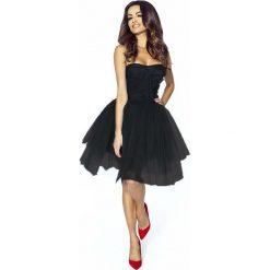 Sukienki hiszpanki: Czarna Sukienka Gorsetowa z Tiulu