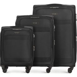 Zestaw walizek 56-3S-58S-10. Czarne walizki marki Wittchen. Za 1066,71 zł.