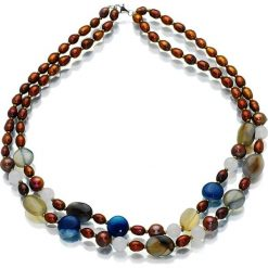 Naszyjniki damskie: Naszyjnik z perłami i kamieniami – (D)45 cm