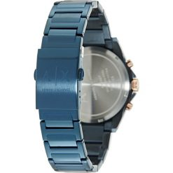 Armani Exchange Zegarek chronograficzny blau. Czarne zegarki męskie marki Armani Exchange, l, z materiału, z kapturem. Za 1009,00 zł.
