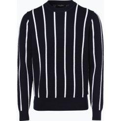 Calvin Klein - Sweter męski, niebieski. Pomarańczowe swetry klasyczne męskie marki Calvin Klein, l, z bawełny, z okrągłym kołnierzem. Za 349,95 zł.