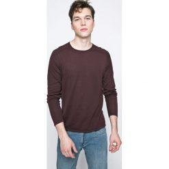 Jack & Jones - Sweter. Czarne swetry klasyczne męskie marki Jack & Jones, l, z bawełny, z klasycznym kołnierzykiem, z długim rękawem. W wyprzedaży za 89,90 zł.