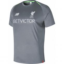 Treningowa Koszulka Liverpool - MT831006CTR. Szare koszulki do piłki nożnej męskie New Balance, na jesień, m, z materiału. Za 299,99 zł.