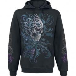 Spiral Rococo Skull Bluza z kapturem czarny. Brązowe bluzy męskie rozpinane marki SOLOGNAC, m, z elastanu. Za 164,90 zł.