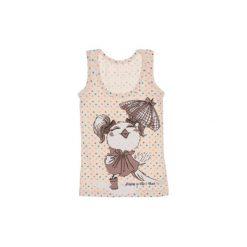 Koszulka dziewczęca bawełniana. Białe bluzki dziewczęce bawełniane marki Reserved, l. Za 7,99 zł.