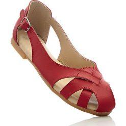 Baleriny skórzane bonprix czerwony. Czerwone baleriny damskie bonprix. Za 79,99 zł.
