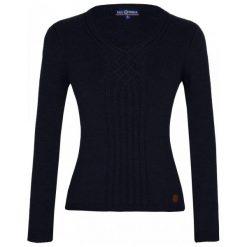 Paul Parker Sweter Damski L Ciemny Niebieski. Niebieskie swetry klasyczne damskie Paul Parker, m, z wełny. Za 159,00 zł.