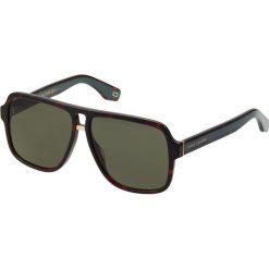 Marc Jacobs Okulary przeciwsłoneczne dkhavana. Brązowe okulary przeciwsłoneczne męskie aviatory Marc Jacobs. Za 839,00 zł.
