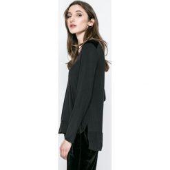 Dkny - Bluzka piżamowa. Czarne bluzki longsleeves marki DKNY, l, z elastanu, z okrągłym kołnierzem. W wyprzedaży za 99,90 zł.