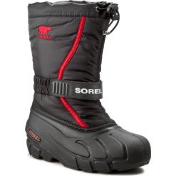 Buty: Śniegowce SOREL – Youth Flurry NY 1885-015 Black/Bright Red
