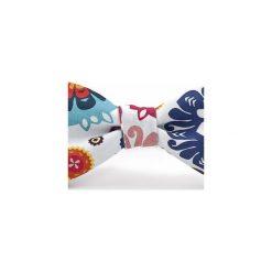 Mucha wiązana FOLK kwiaty łowickie. Szare muchy męskie HisOutfit, w kwiaty, z materiału, wizytowe. Za 89,00 zł.