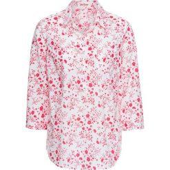 Tunika z nadrukiem, rękawy 3/4 bonprix biało-różowy niebieski. Białe tuniki damskie z nadrukiem bonprix. Za 24,99 zł.