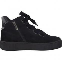 Sneakersy w kolorze czarnym. Czarne sneakersy damskie marki Marco Tozzi. W wyprzedaży za 122,95 zł.