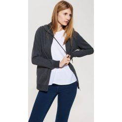 Bluza z kapturem - Szary. Szare bluzy męskie rozpinane marki bonprix, m, melanż, z kapturem. Za 129,99 zł.