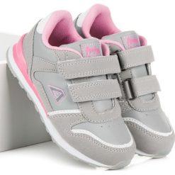 Dziewczęce buciki na rzep CHARLIE. Szare buty sportowe dziewczęce marki American CLUB. Za 79,00 zł.