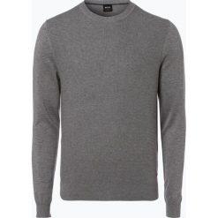 Swetry klasyczne męskie: BOSS Casual – Sweter męski – Amhus, szary