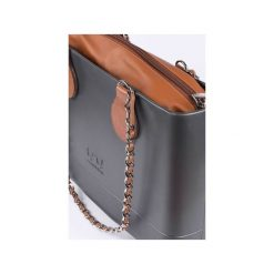 TORBA LARGE LUX SILVER. Szare torebki klasyczne damskie Doubleu bag. Za 369,00 zł.