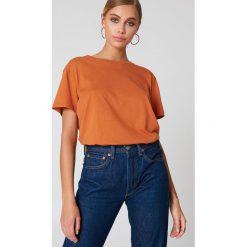 NA-KD Basic T-shirt oversize - Orange. Różowe t-shirty damskie marki NA-KD Basic, z bawełny. Za 40,95 zł.