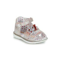 Sandały Dziecko  Catimini  STEVIA. Czerwone sandały dziewczęce marki Born2be, z materiału, z otwartym noskiem, na zamek. Za 239,20 zł.