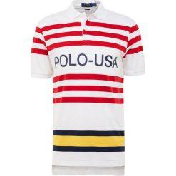 Polo Ralph Lauren INTERLOCK Koszulka polo white multi. Białe koszulki polo Polo Ralph Lauren, m, z bawełny. Za 459,00 zł.