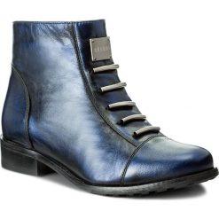 Botki EKSBUT - 66-4088-F63-1G Polar Czarny/Niebieski. Niebieskie buty zimowe damskie Eksbut, z polaru, na obcasie. W wyprzedaży za 249,00 zł.
