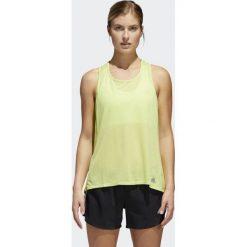 Bluzki asymetryczne: Adidas Koszulka damska Response Tank żółta r. XS (CF1031)