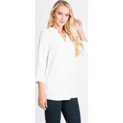 Bluzki asymetryczne: Biała bluzka z dekoltem V QUIOSQUE