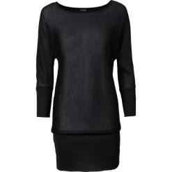 Sweter z lureksową nitką bonprix czarny. Czarne swetry klasyczne damskie bonprix. Za 79,99 zł.