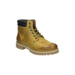 Kozaki i kalosze  Jack   Jones  12140826. Czarne buty zimowe męskie marki Jack & Jones, l, z bawełny, z okrągłym kołnierzem. Za 395,53 zł.