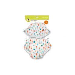 Czapeczki niemowlęce: LÄSSIG Splash & Fun Komplet kapelusz i majteczki do pływania, Cream white