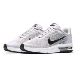 Nike Performance AIR MAX SEQUENT 2  Obuwie do biegania treningowe pure platinum/cool grey/black. Białe buty do biegania damskie marki Nike Performance, z materiału. Za 359,00 zł.