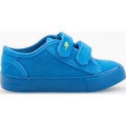 Trampki chłopięce: Sneakersy zapinane na rzepy - Niebieski