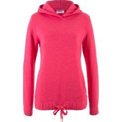 Bluzy damskie: Bluza z gumką w dolnej części bonprix różowy hibiskus