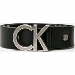 Calvin Klein Jeans - Pasek. Czarne paski męskie Calvin Klein Jeans, w paski, z jeansu. Za 219,90 zł.