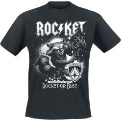 Guardians Of The Galaxy 2 - Rocket Or Bust T-Shirt czarny. Czarne t-shirty męskie z nadrukiem Guardians Of The Galaxy, xl, z okrągłym kołnierzem. Za 89,90 zł.