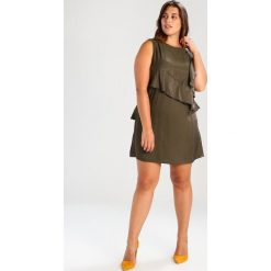 Sukienki hiszpanki: Elvi MULTI FRILL SHIFT Sukienka koktajlowa khaki