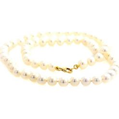 Naszyjniki damskie: Naszyjnik z pereł słodkowodnych – (D)43 cm