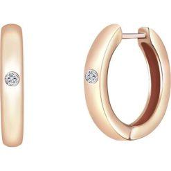 Kolczyki damskie: Pozłacane kolczyki-kreole z diamentami