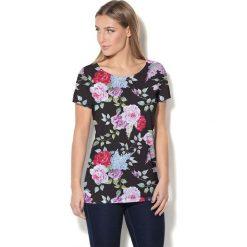 Colour Pleasure Koszulka damska CP-034 7 czarno-różowa r. XL-XXL. Czarne bluzki damskie marki Colour pleasure, xl. Za 70,35 zł.