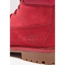 Timberland 6 INCH PREMIUM WP Botki sznurowane red. Czerwone botki damskie skórzane marki Timberland. W wyprzedaży za 254,50 zł.